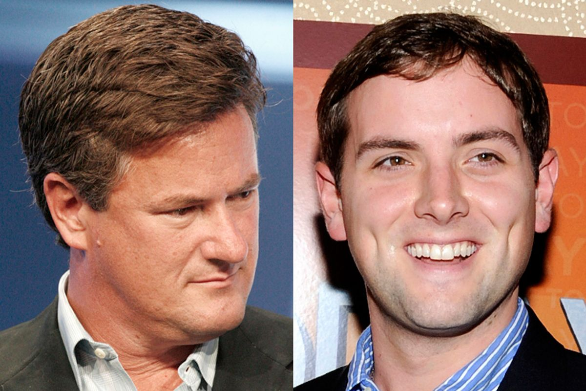 Joe Scarborough and Luke Russert         (Reuters/Fred Prouser/AP/Evan Agostini)