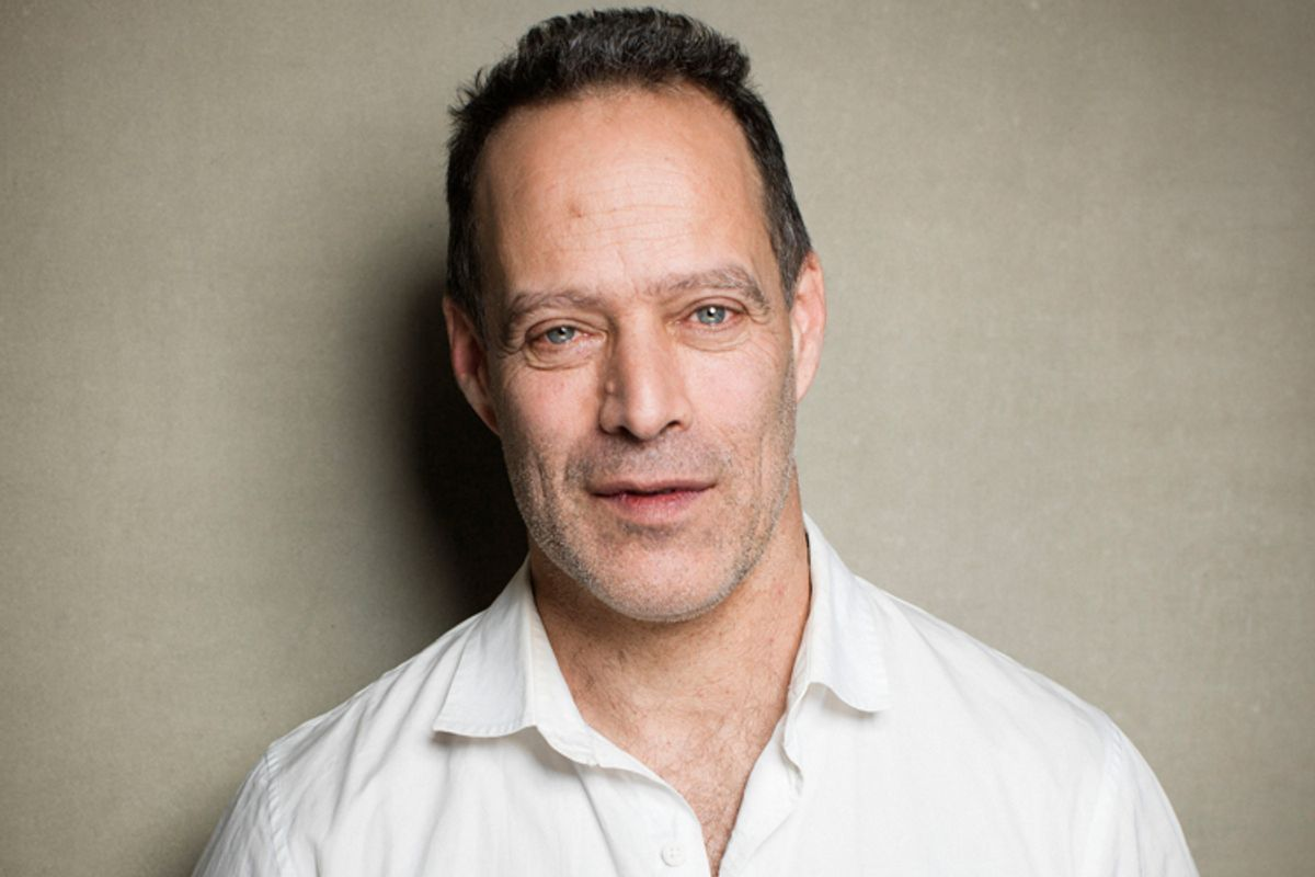 """Director Sebastian Junger from the film """"Which Way Is Front Line From Here"""" poses for a portrait during the 2013 Sundance Film Festival on Sunday, Jan. 20, 2013 in Park City, Utah. (Photo by Victoria Will/Invision/AP Images)       (Victoria Will)"""