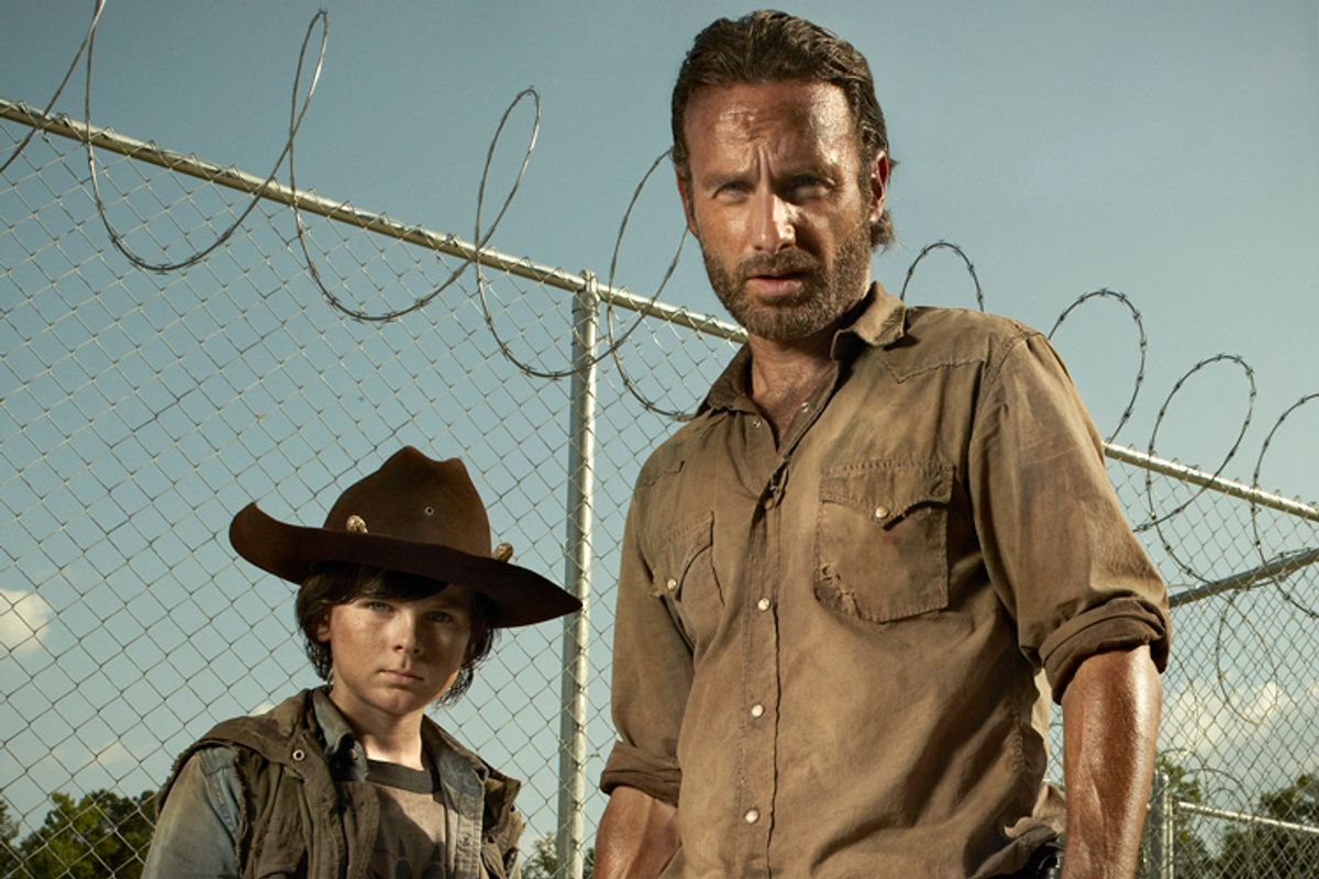 """Carl Grimes (Chandler Riggs) and Sheriff Rick Grimes (Andrew Lincoln) from """"The Walking Dead""""     (AMC/Frank Ockenfels)"""