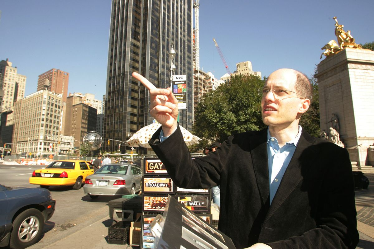 Able to reap buildings in a single bound. Author Alain de Botton sees personality in architecture.      (AP/Hiroko Masuike)