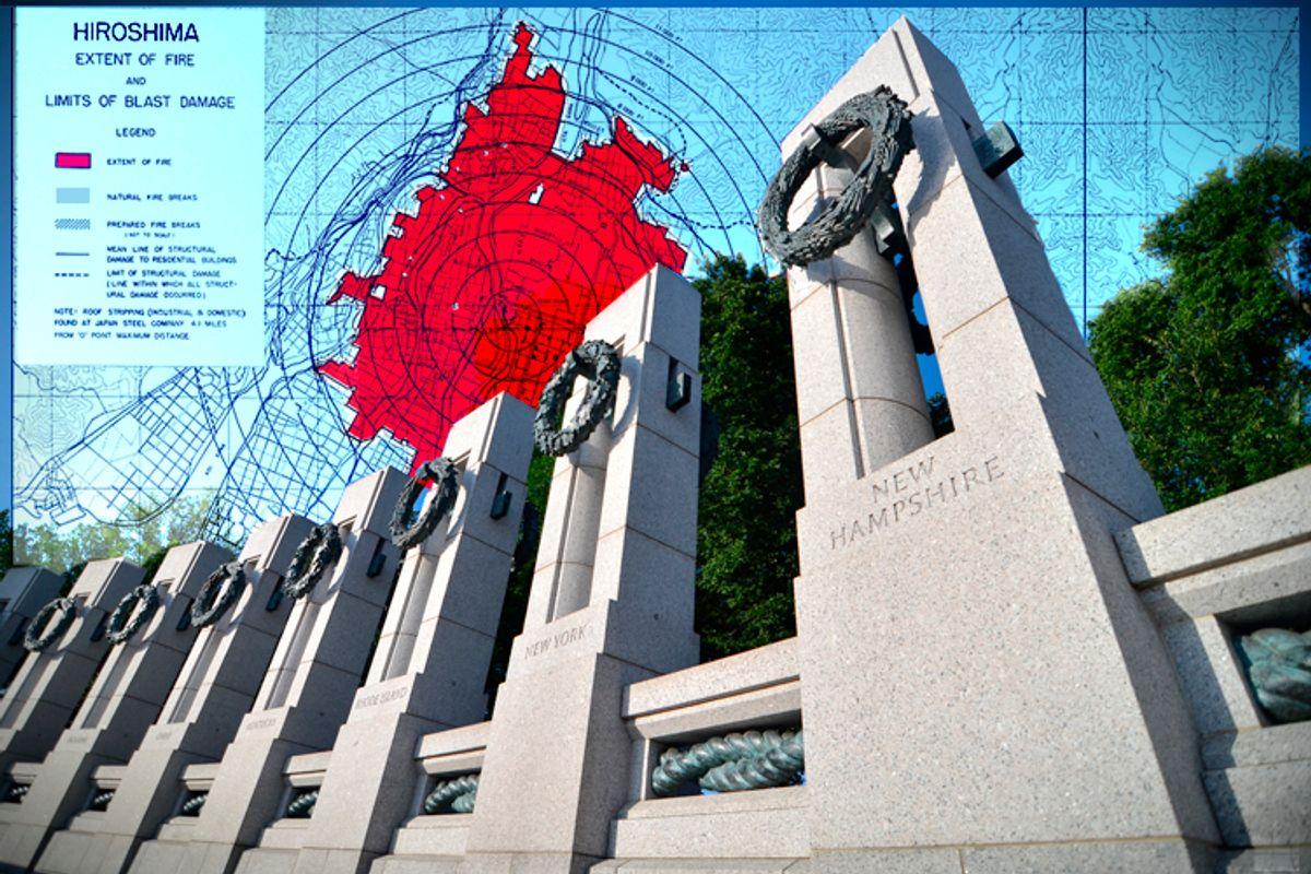 The World War II Memorial in Washington, D.C. (Wikimedia/<a href='http://www.shutterstock.com/gallery-130111p1.html'>Orhan Cam</a> via <a href='http://www.shutterstock.com/'>Shutterstock</a>/Salon)