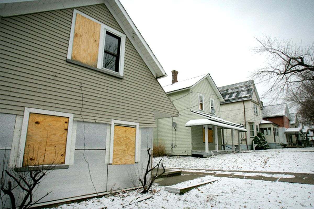 Slavic Village, Cleveland, Monday, Jan. 14, 2008.   (AP/Tony Dejak)