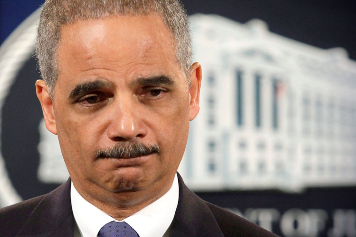 U.S. Attorney General Eric Holder        (Reuters/Yuri Gripas)