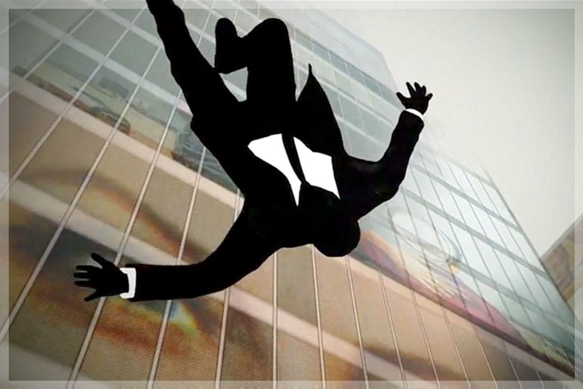 """The Falling Man of the """"Mad Men"""" opening credits          (AMC)"""