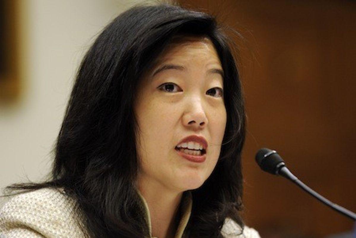Michelle Rhee                 (AP Photo/Susan Walsh)