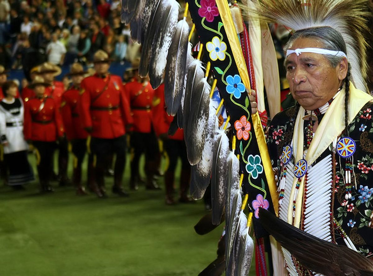 Aboriginal leader at the 13th Annual Canadian Aboriginal Festival.  (Wikimedia Commons)