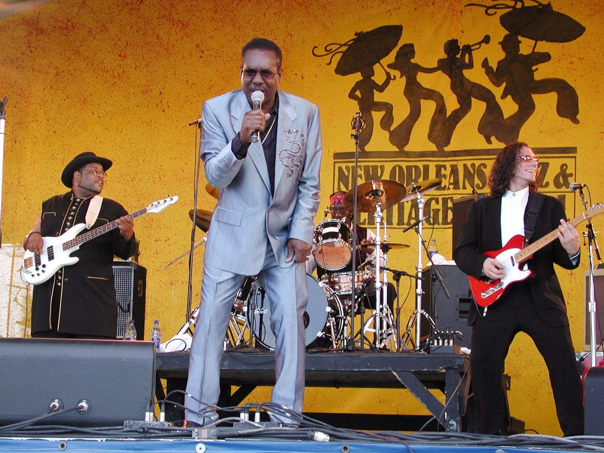 Wilson Pickett plays at the Acura stage at the  New Orleans Jazz and Heritage Festival on Friday, May 4, 2001, in New Orleans.   (AP/Douglas Mason)