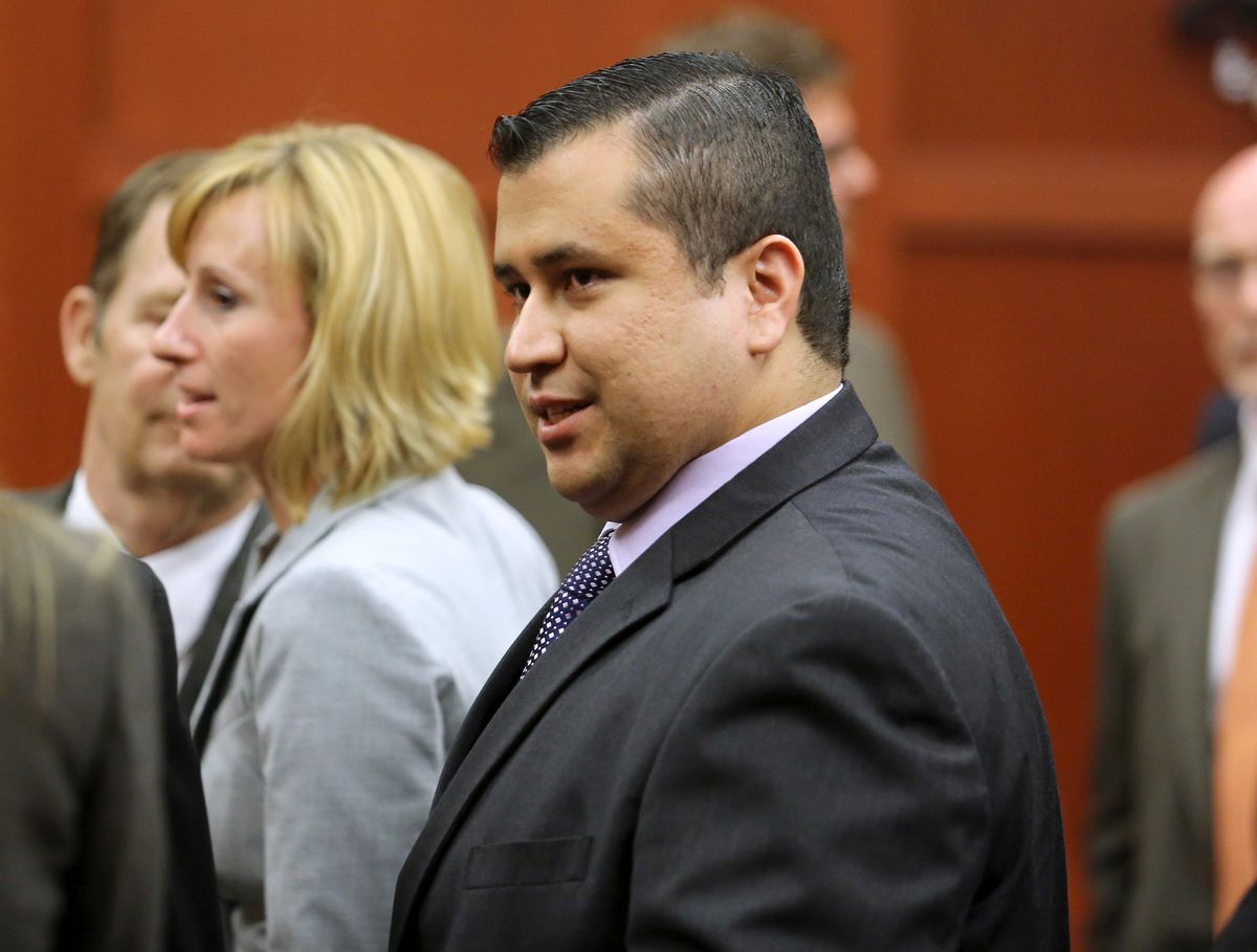 George Zimmerman leaves the courtroom a free man after being found not guilty in the 2012 shooting death of Trayvon Martin at the Seminole County Criminal Justice Center in Sanford, Florida, July 13, 2013.                                 (Reuters/Joe Burbank)