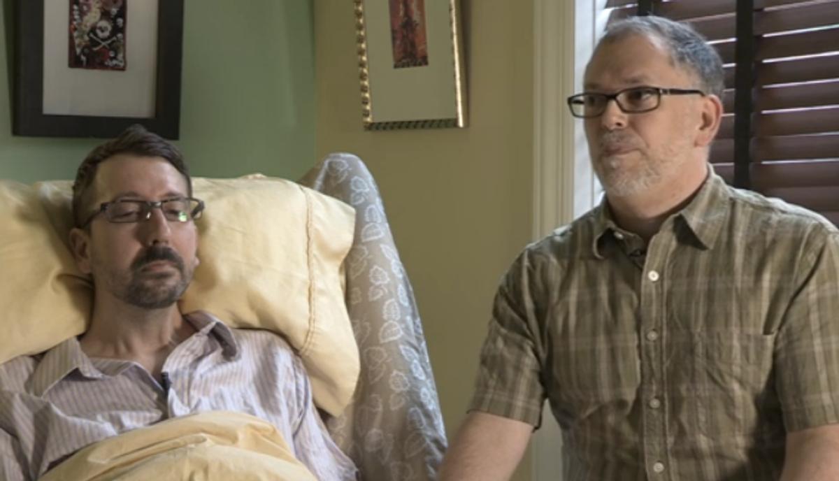 John Arthur and Jim Obergefell of Cincinnati, partners for more than 20 years,