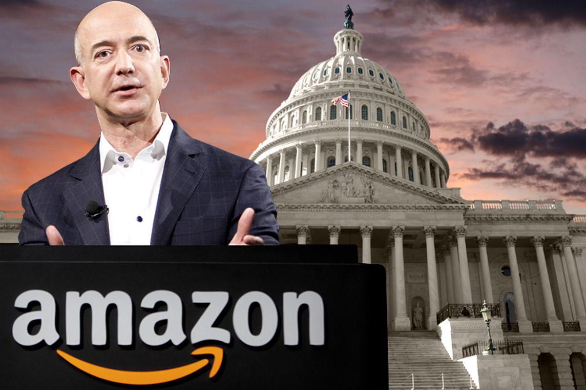 Amazon CEO Jeff Bezos           (AP/Reed Saxon/<a href='http://www.shutterstock.com/gallery-306199p1.html'>trekandshoot</a> via <a href='http://www.shutterstock.com/'>Shutterstock</a>/Salon)