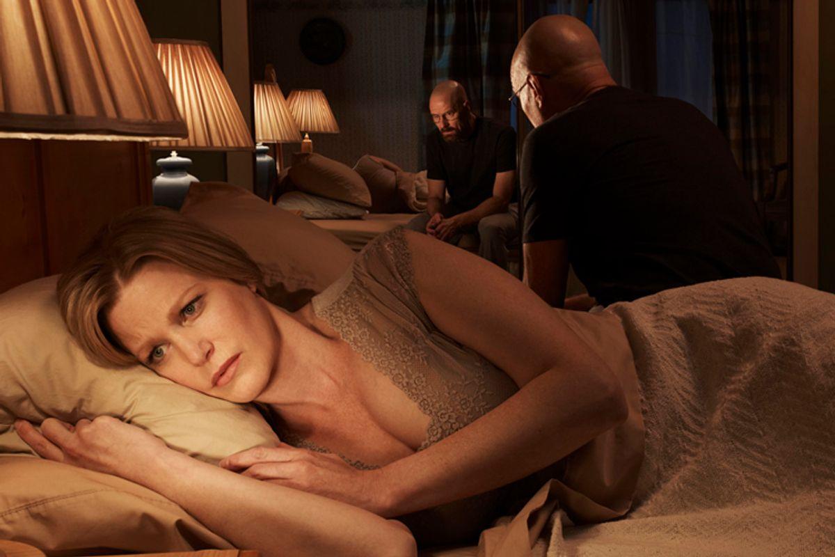 """Anna Gunn as Skyler White, Bryan Cranston as Walter White in """"Breaking Bad .""""                  (AMC/Frank Ockenfels)"""