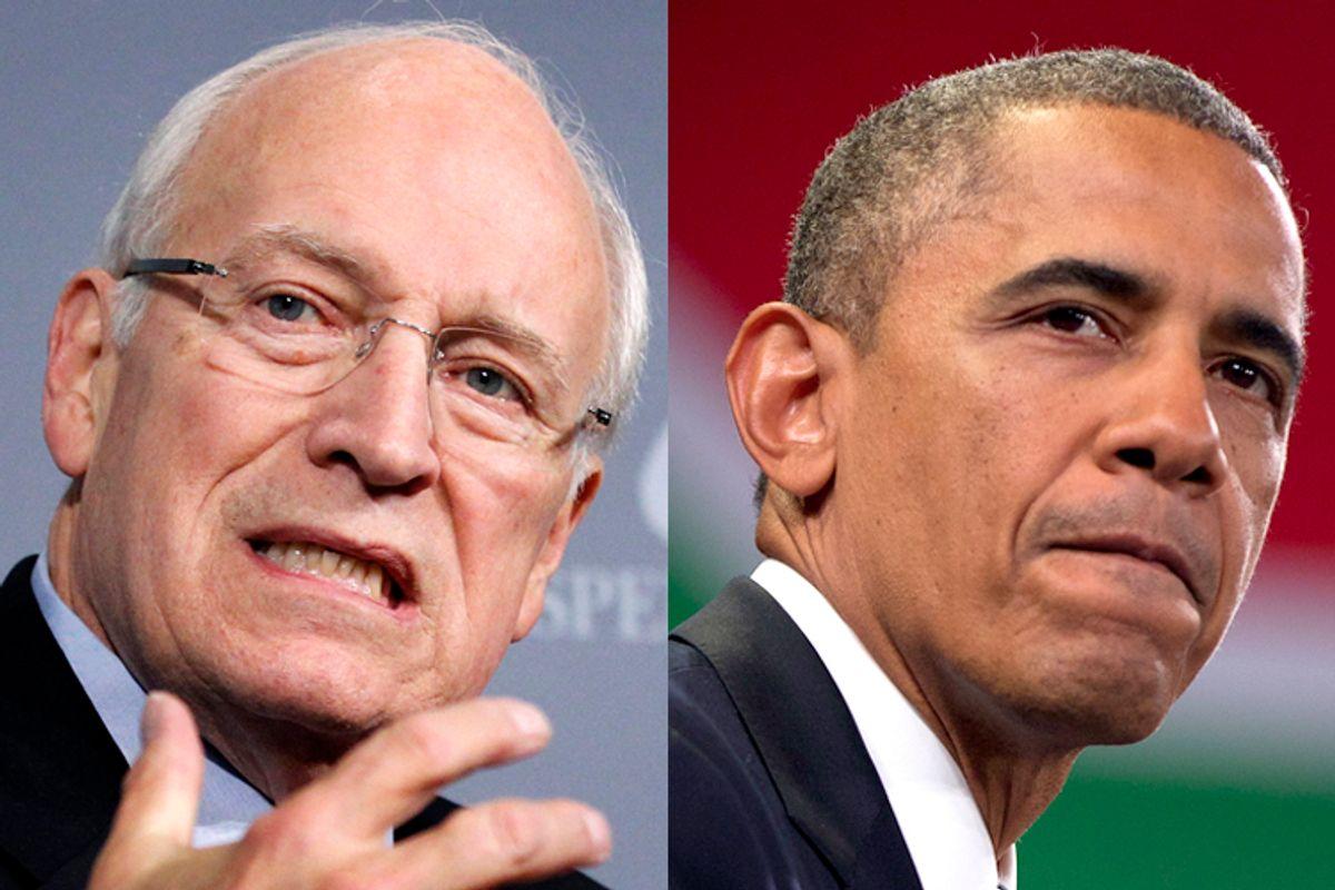 Dick Cheney, Barack Obama     (AP/Manuel Balce Ceneta/AP/Evan Vucci)