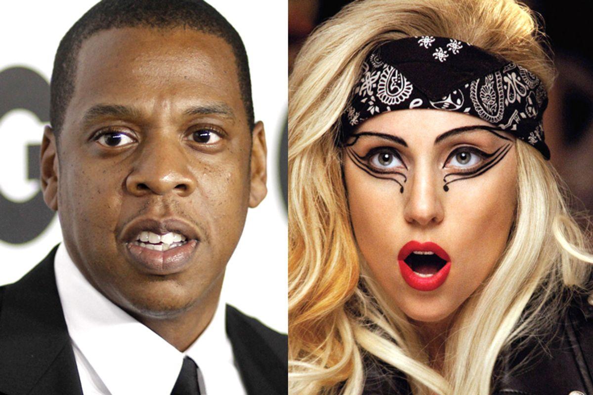 Jay Z, Lady Gaga        (AP/Matt Sayles)