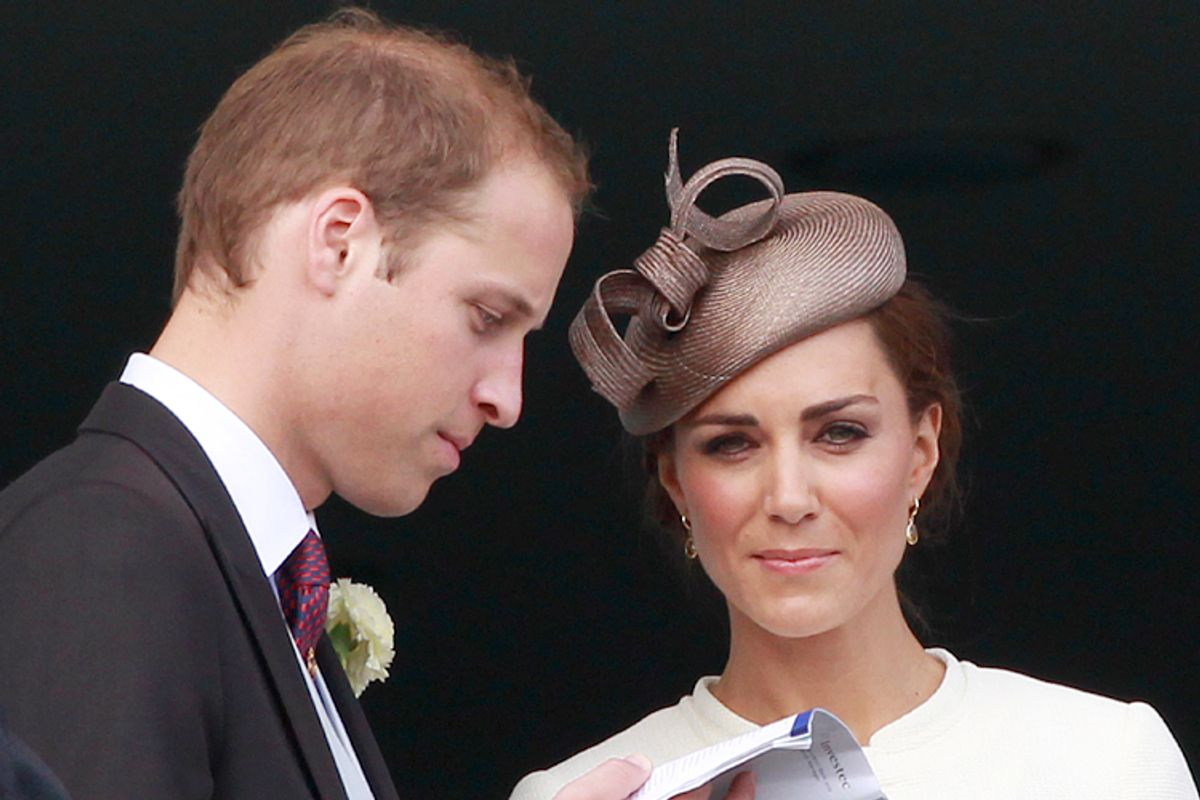 Britain's Prince William and Catherine, Duchess of Cambridge.       (Reuters/Suzanne Plunkett)