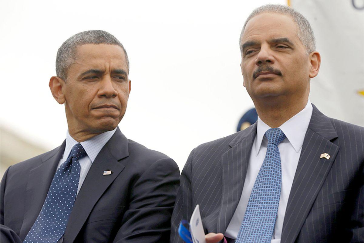 Barack Obama, Eric Holder              (AP/Pablo Martinez Monsivais)
