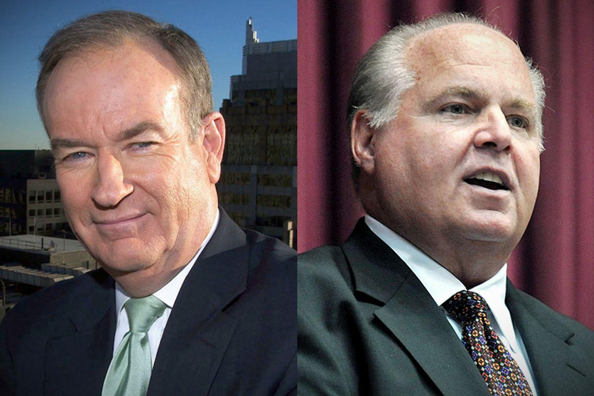 Bill O'Reilly, Rush Limbaugh                           (AP/Jim Cooper/Julie Smith)