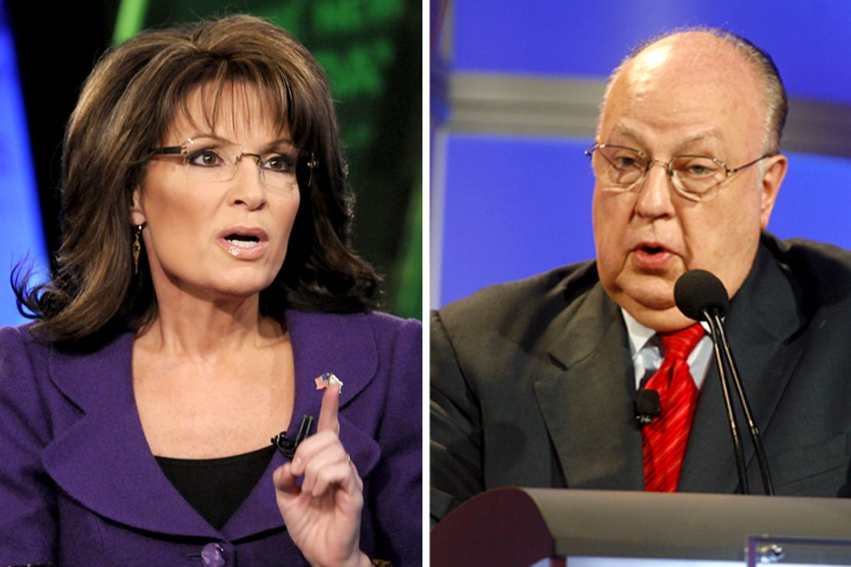 Sarah Palin, Roger Ailes              (AP/Fred Watkins/Reuters/Fred Prouser)