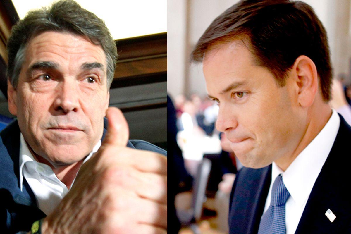Rick Perry, Marco Rubio                (AP/Charlie Neibergall/AP/Charles Dharapak)