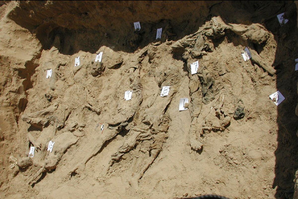 Physicians for Human Rights sent forensic experts to conduct a preliminary forensic assessment of various mass graves in northern Afghanistan, including the one at Dasht-e-Leili.    (Physicians for Human Rights)