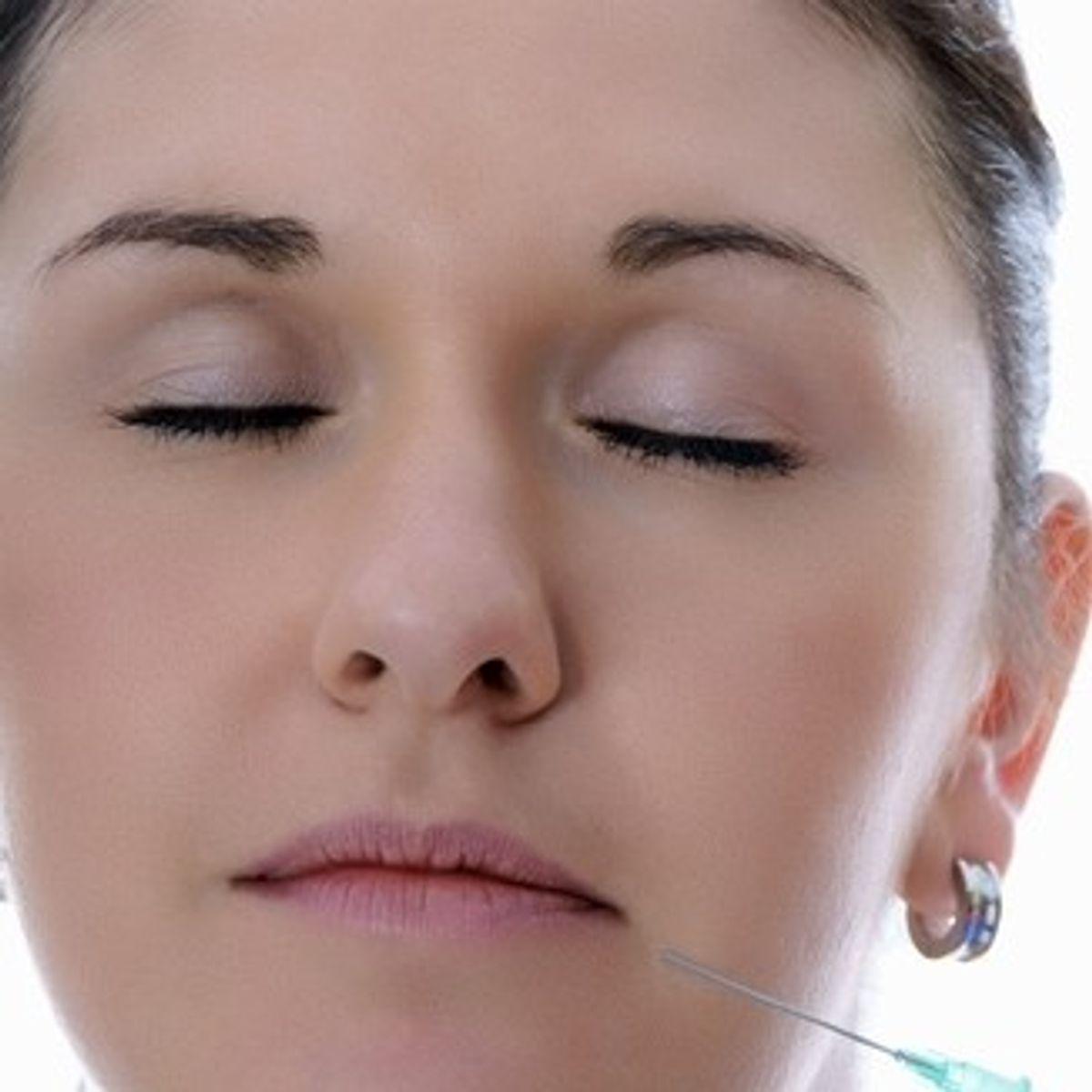 Botox injection   (<a href='http://www.shutterstock.com/gallery-660187p1.html'>PhotographyByMK</a> via <a href='http://www.shutterstock.com/'>Shutterstock</a>)