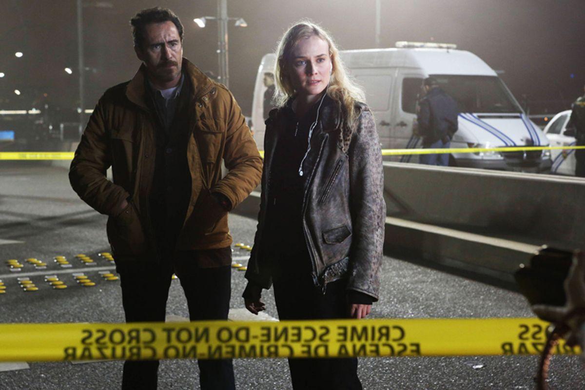 "Demian Bichir and Diane Kruger in ""The Bridge.""   (FX)"