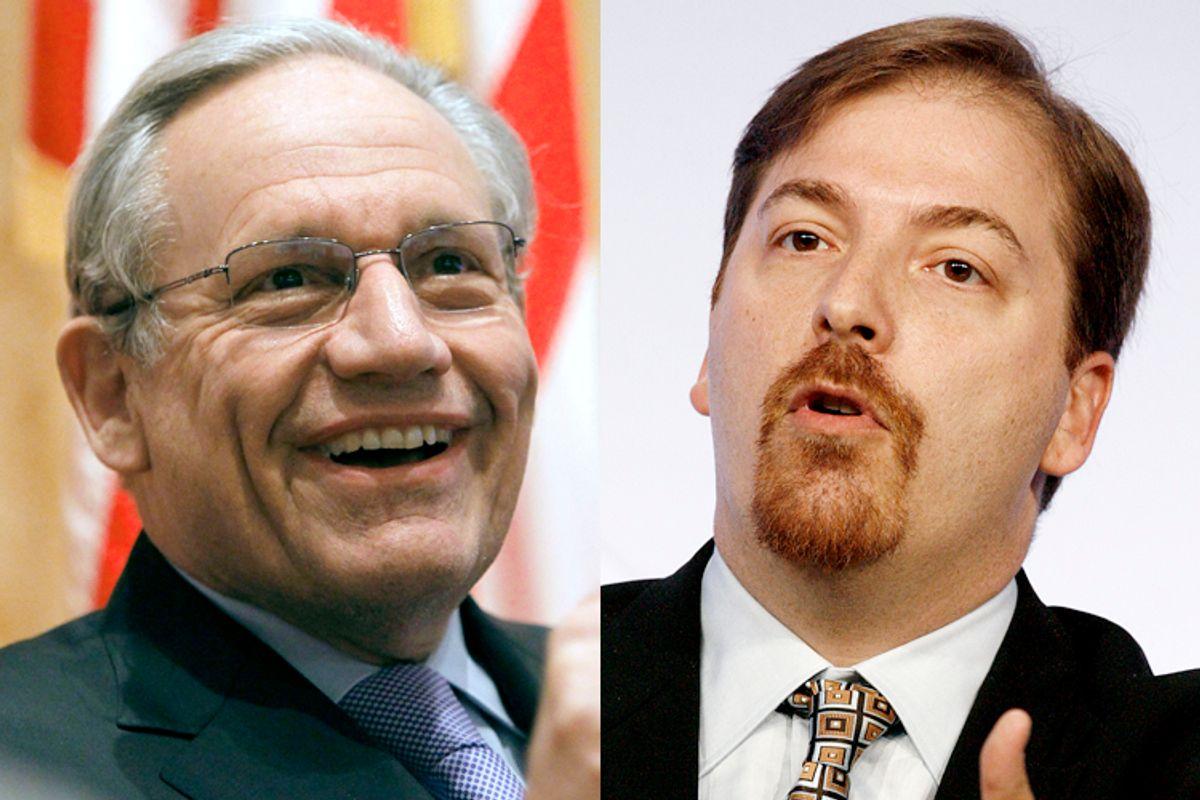 Bob Woodward, Chuck Todd      (Reuters/Alex Gallardo/Fred Prouser)
