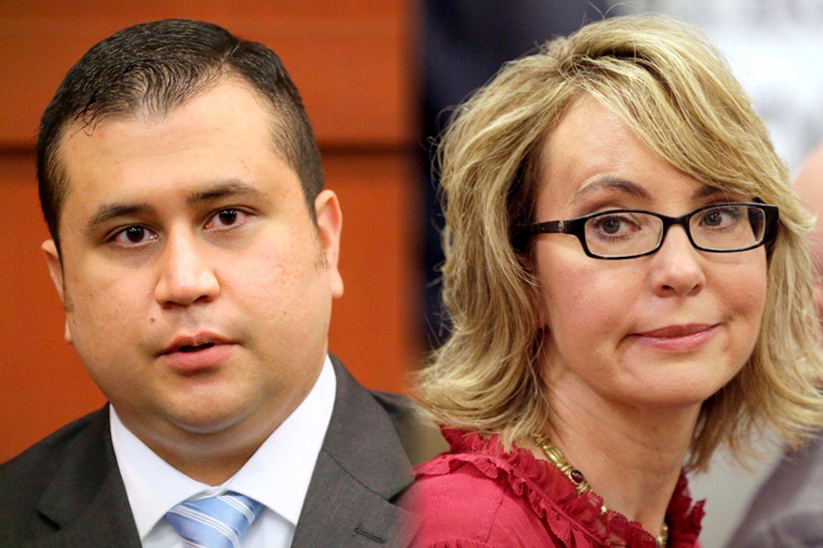 George Zimmerman, Gabrielle Giffords              (AP/Joe Burbank/Mary Schwalm)
