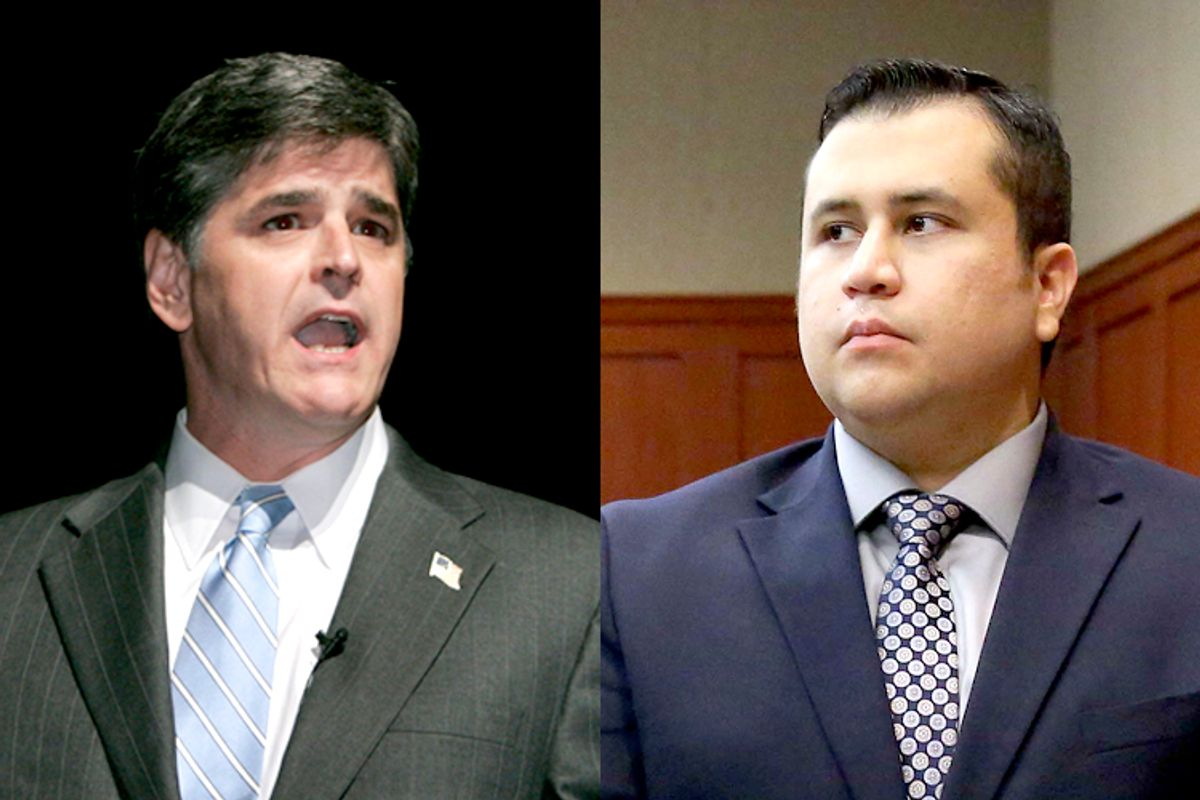 Sean Hannity, George Zimmerman                (AP/Douglas C. Pizac/AP/Joe Burbank)