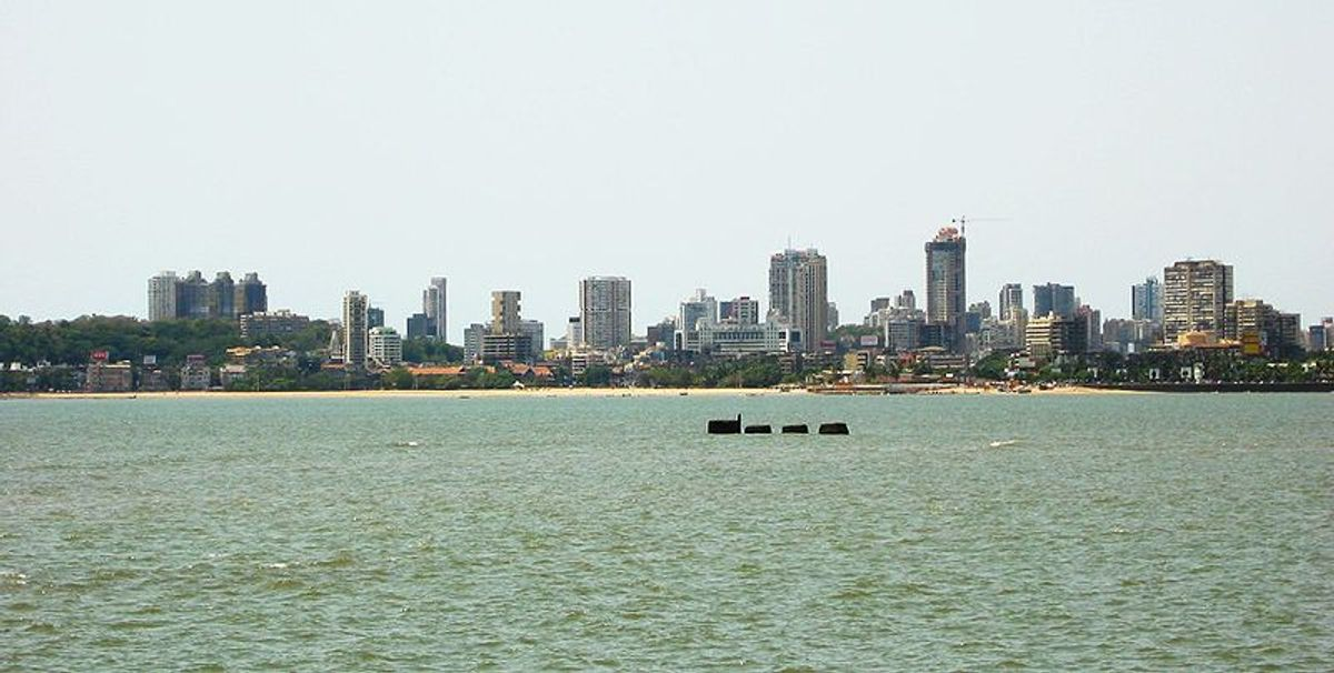 Mumbai skyline  (de:User:Sebastianjude)