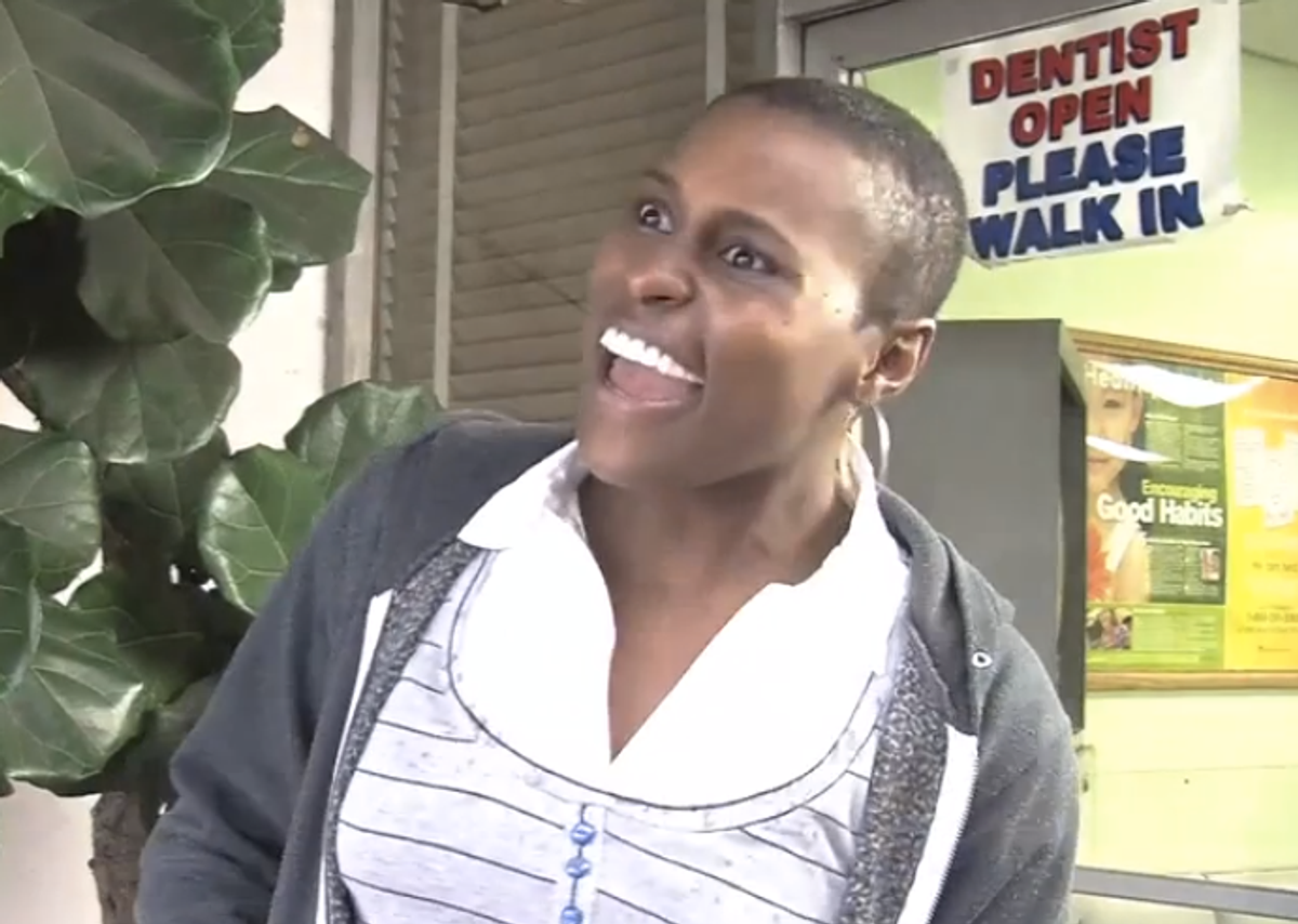 """(Issa Rae in a screengrab from """"The Misadventures of Awkward Black Girl"""")"""