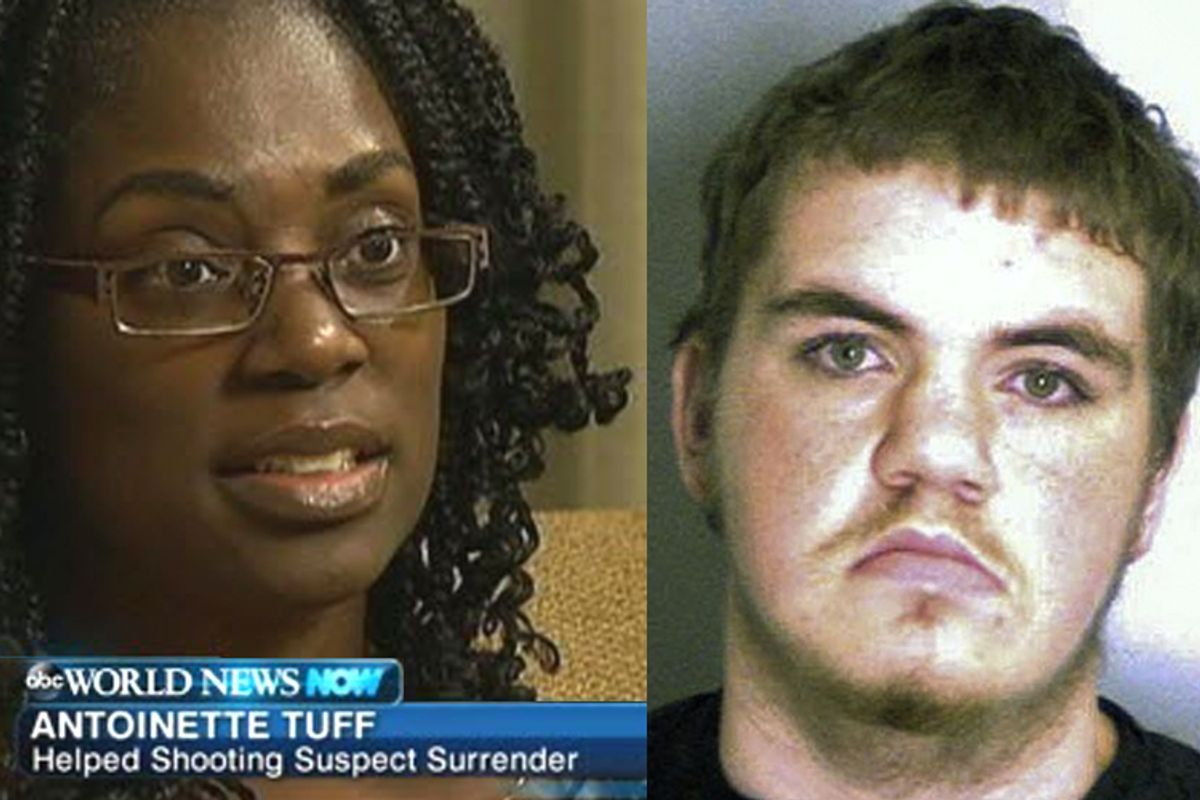 Antoinette Tuff, Michael Brandon Hill   (ABC News/AP/Dekalb County Sheriff's Department)