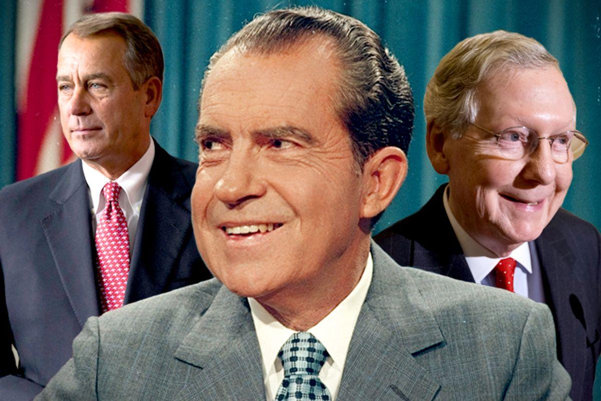 Richard Nixon, John Boehner, Mitch McConnell                                                                    (AP/J. Scott Applewhite)