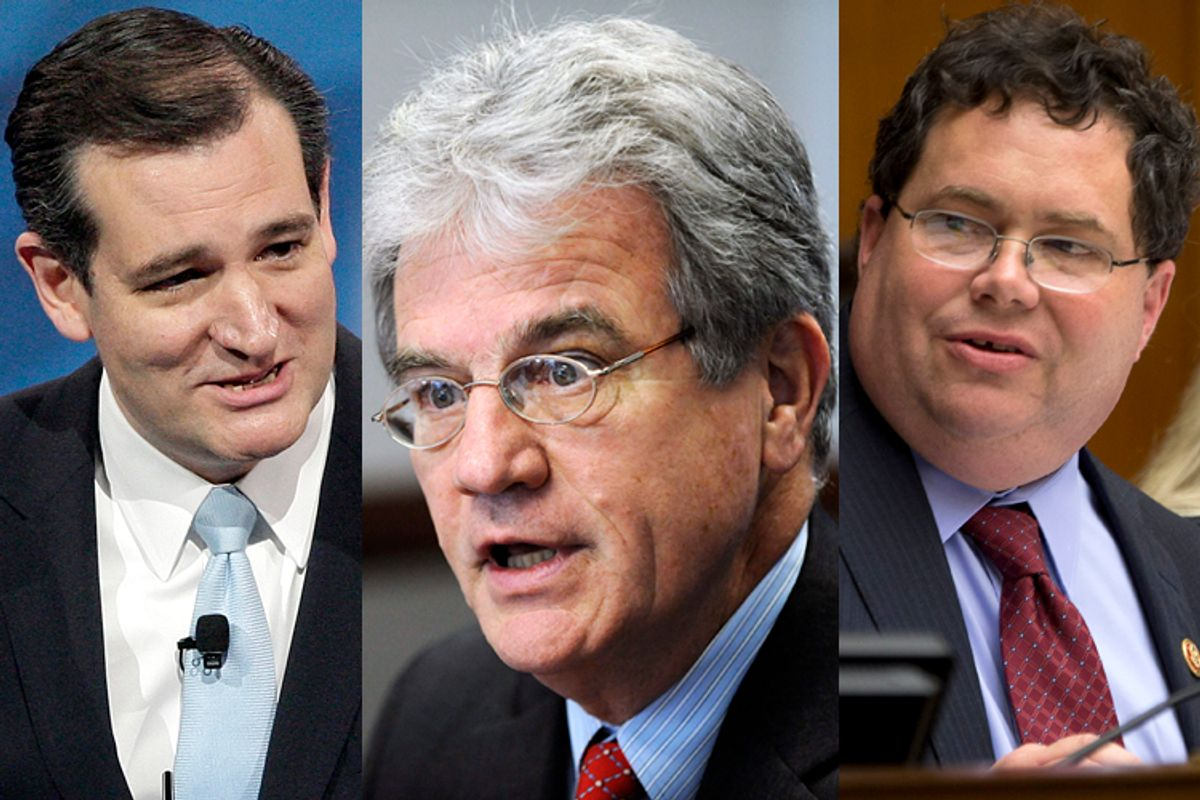Ted Cruz, Tom Coburn, Blake Farenthold                              (Reuters/Jonathan Ernst/AP/Jacquelyn Martin)