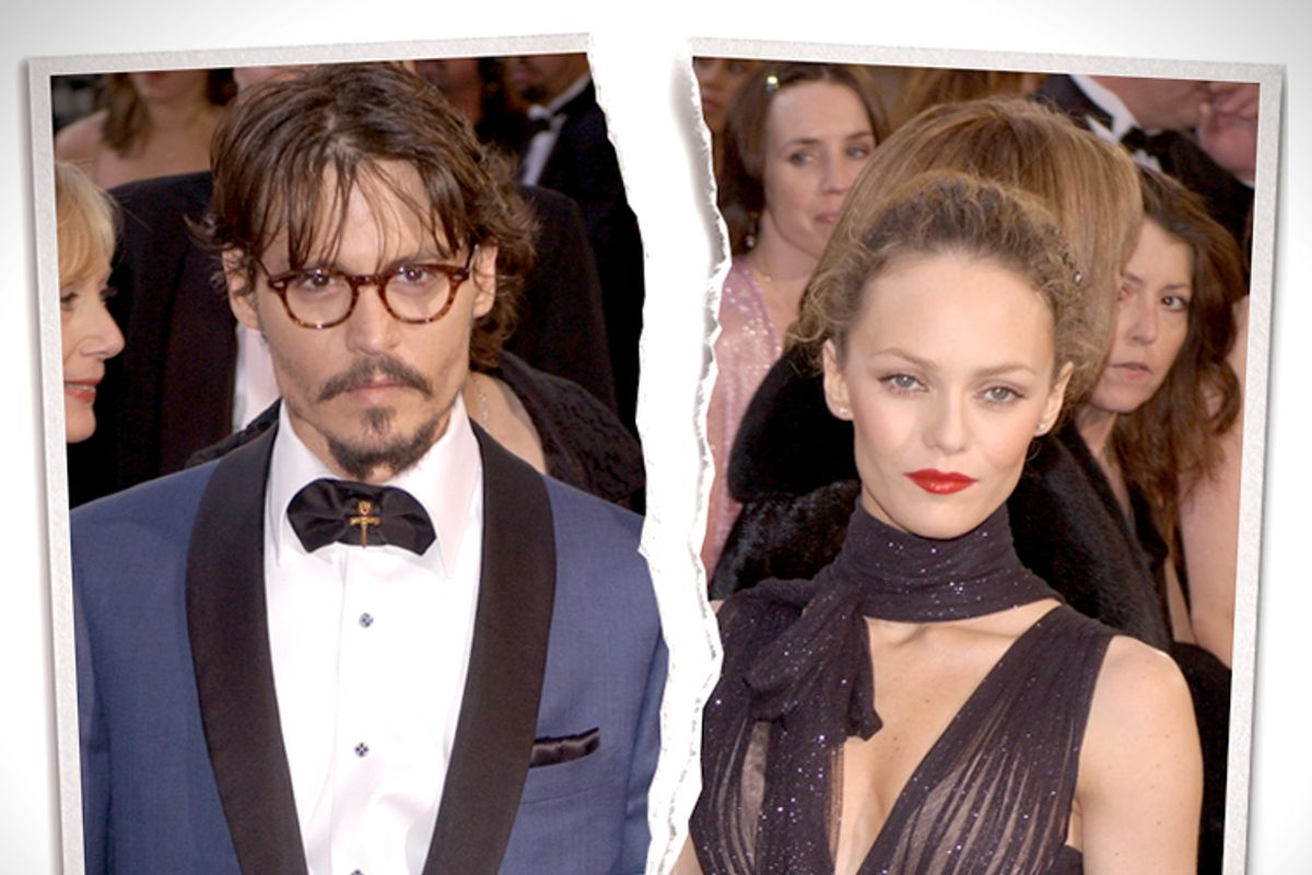 Johnny Depp, Vanessa Paradis   (<a href='http://www.shutterstock.com/gallery-842245p1.html'>Featureflash</a> via <a href='http://www.shutterstock.com/'>Shutterstock</a>/Salon)