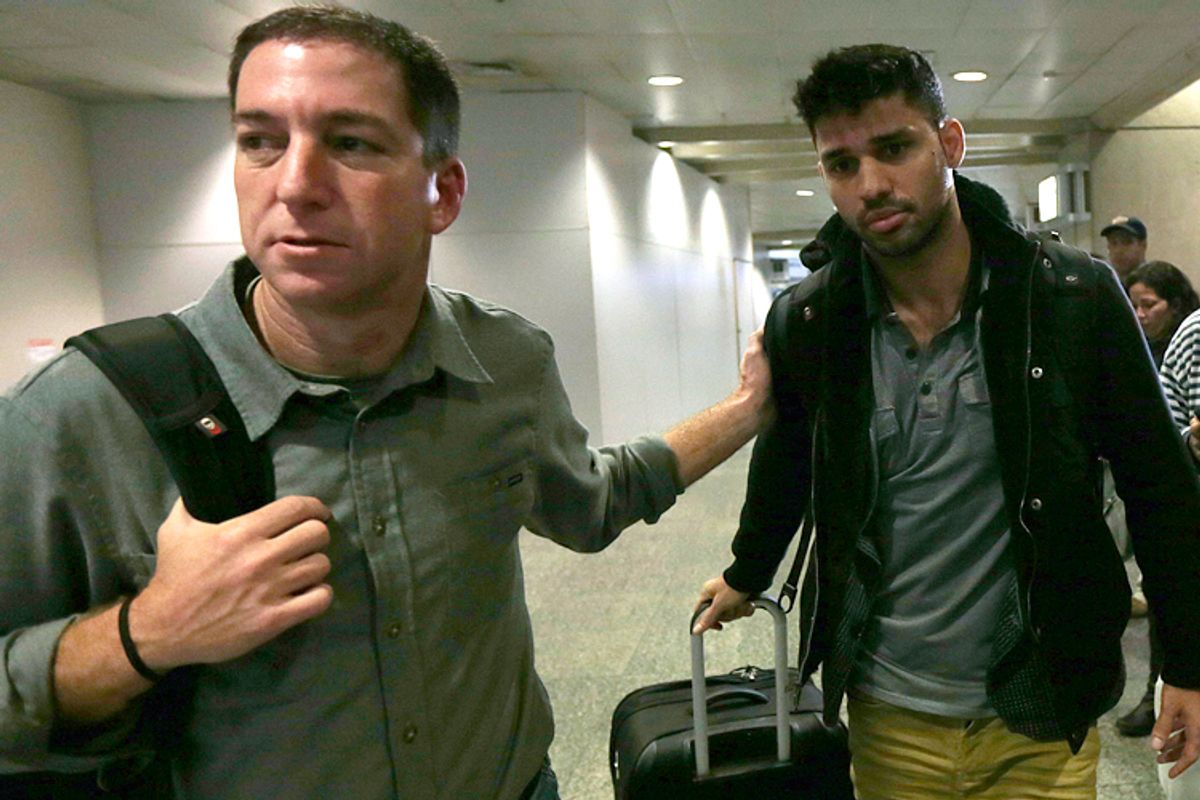 Glenn Greenwald, David Miranda              (Reuters/Ricardo Moraes)