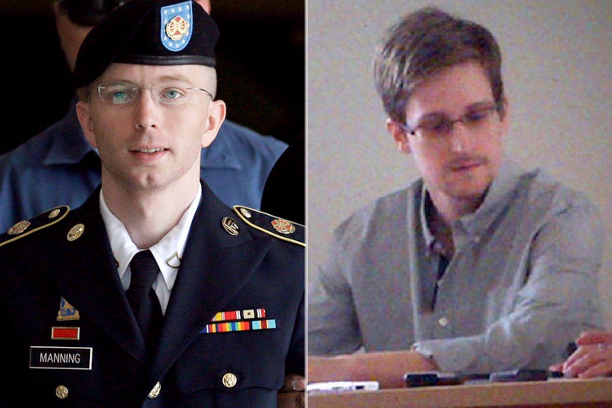 Bradley Manning, Edward Snowden                            (AP/Patrick Semansky/Tanya Lokshina)