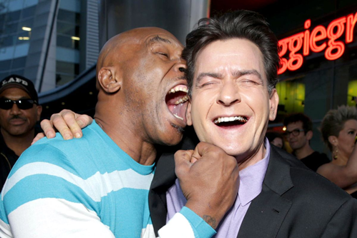 Mike Tyson and Charlie Sheen     (AP/Eric Charbonneau)