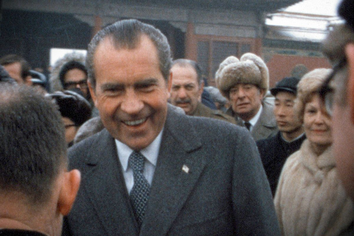 """Movie still from """"Our Nixon"""""""