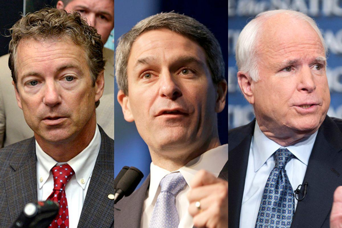 Rand Paul, Ken Cuccinelli, John McCain                      (AP/Timothy D. Easley/Steve Helber/Chris Usher)