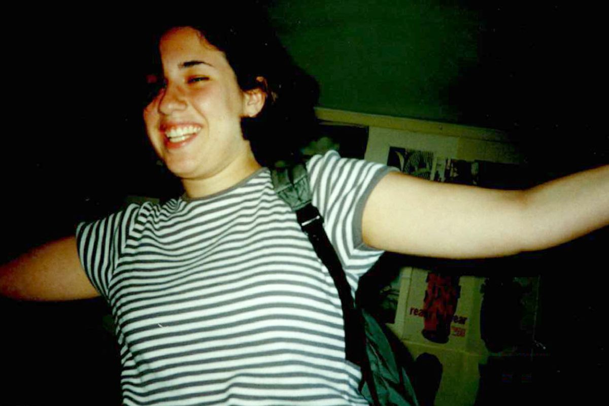 A photo of the author when she was in college.