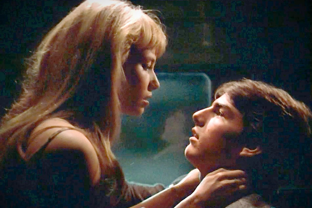 """Rebecca De Mornay and Tom Cruise in """"Risky Business"""""""