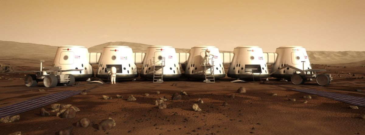 The envisioned colony on Mars  (Mars One)