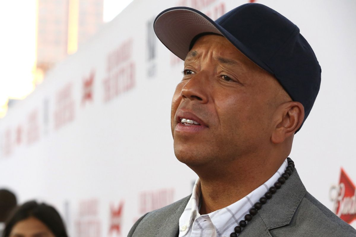 Russell Simmons at The Los Angeles Premiere of 'The Butler', on Monday, August 12, 2013 in Los Angeles. (Photo by Alexandra Wyman/Invision/AP Images)