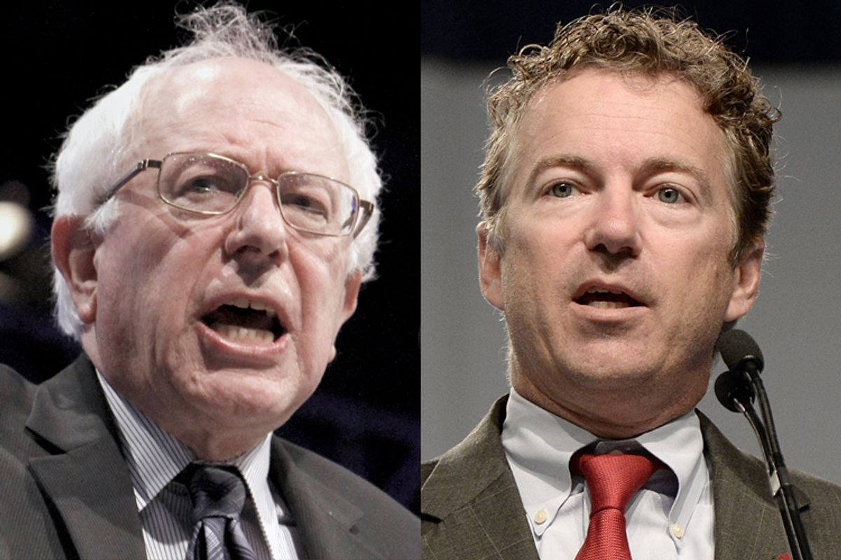 Bernie Sanders, Rand Paul     (AP/Rich Pedroncelli/Timothy D. Easley)