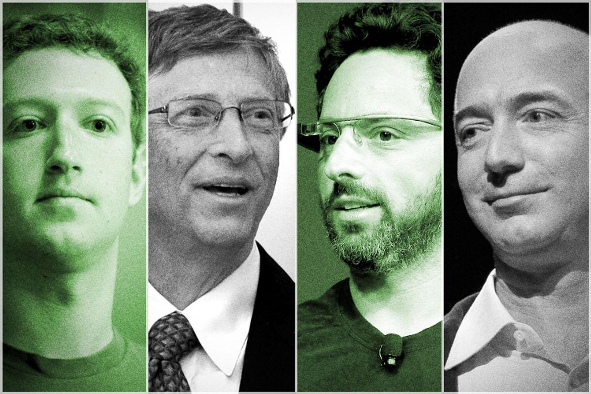 Mark Zuckerberg, Bill Gates, Sergey Brin, Jeff Bezos       (AP/Paul Sakuma/Reuters/Lee Jin-man/Stephen Lam/Shannon Stapleton)