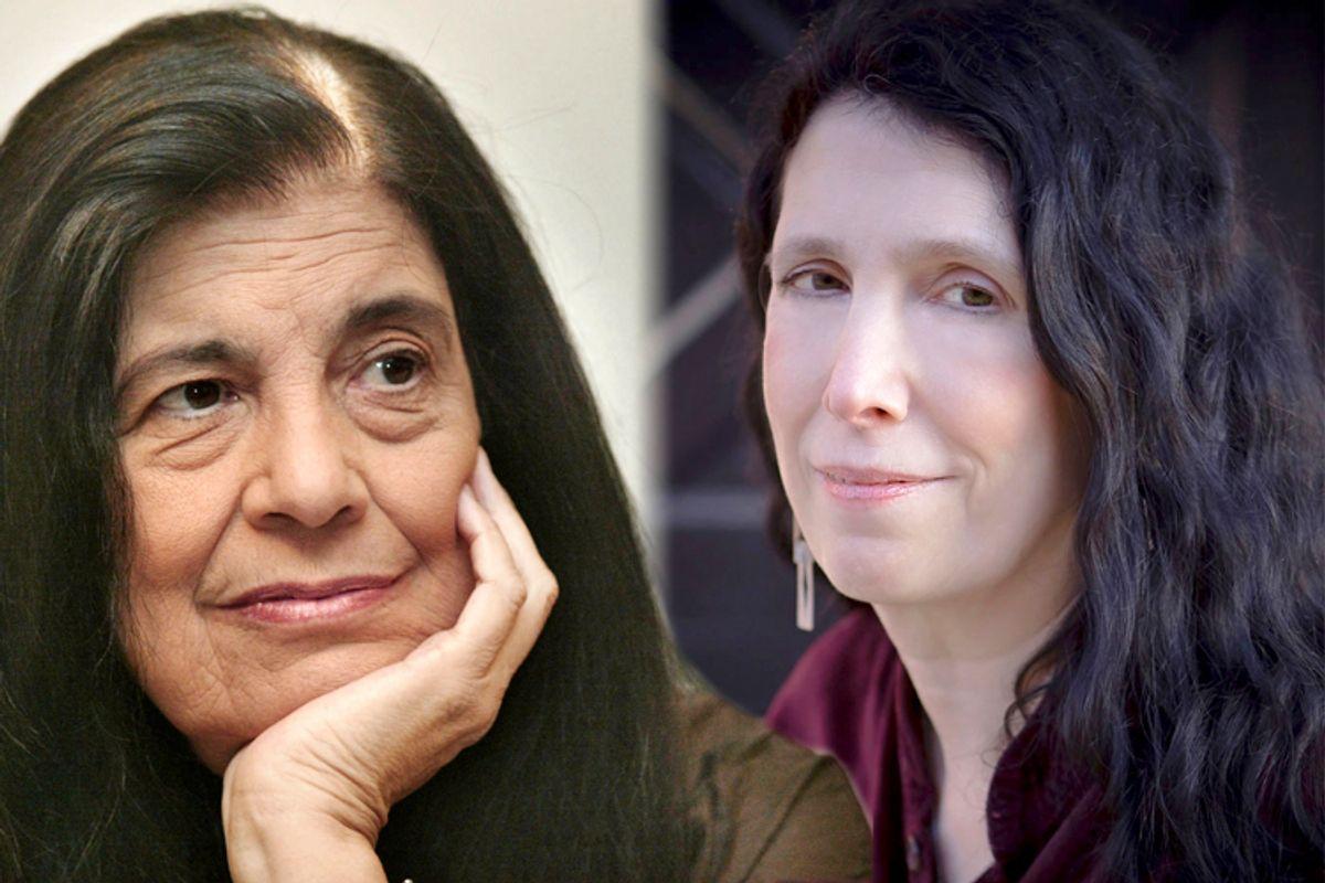 Susan Sontag, Caroline Leavitt    (AP/Michael Probst/Algonquin Books)