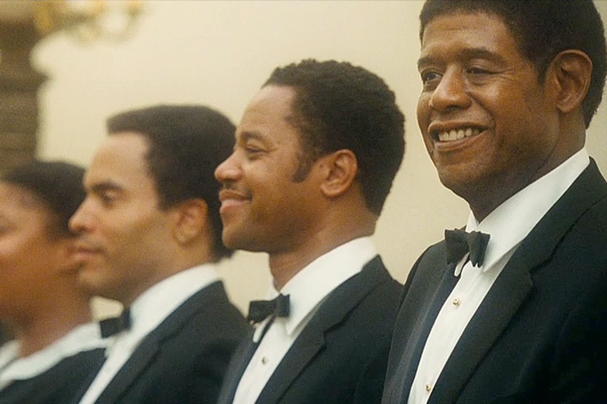 """Lenny Kravitz, Cuba Gooding Jr., and Forest Whitaker in """"The Butler"""""""