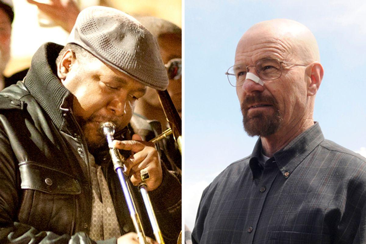 "Wendell Pierce in ""Treme,"" Bryan Cranston in ""Breaking Bad""                (HBO/Paul Schiraldi/AMC/Ursula Coyote)"