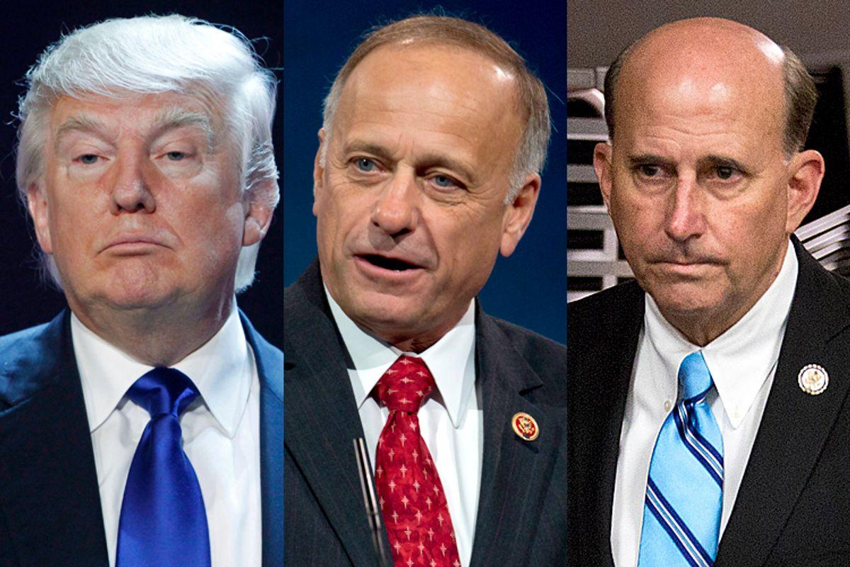Donald Trump, Steve King, Louie Gohmert                                 (Reuters/Steve Marcus/AP/Carolyn Kaster/Reuters/Joshua Roberts)