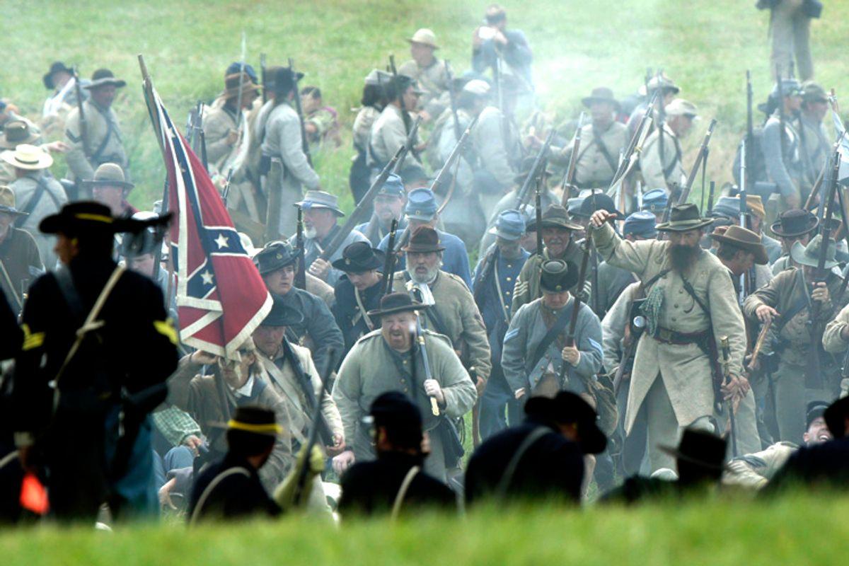 Civil War Reenactors         (Reuters/Gary Cameron)